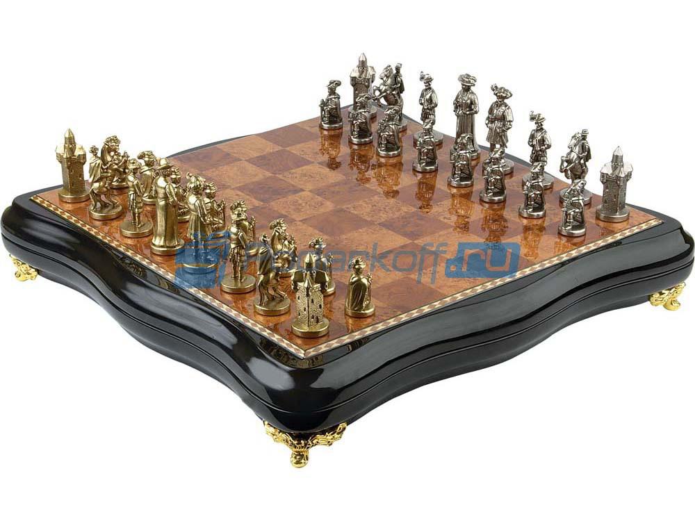 """Шахматы """"Регент"""". Бронза, ценные породы дерева"""