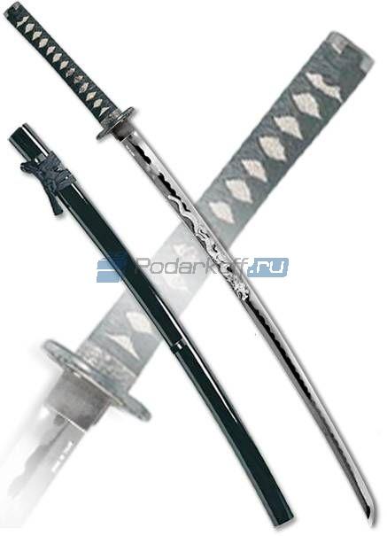 Фабрика: Ryuichi Swords Страна: Япония Описание: ножны черные с желтыми прожилками, обвязка рукояти черная...