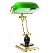 Лампа настольная зеленая с отделкой камнем