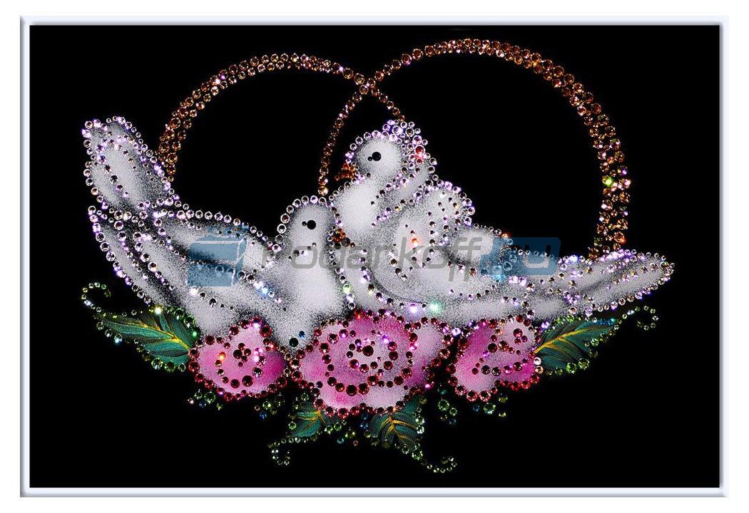 ... Картина с кристаллами Swarovski 'Голубки: www.podarkoff.ru/product/1773619800/Kartina_s_kristallami_Swarovski...