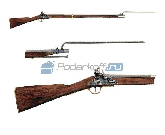 Ружье со штыком 18 век (полноразмерная копия) - 1