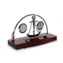 Прибор настольный с часами и термометром