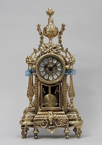 Часы с маятником, золотистые - 1