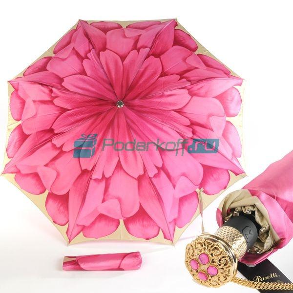 Зонт Складной женский Pasotti Auto Rosa Lux