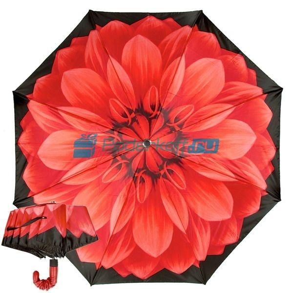 Зонт Складной женский Pasotti Auto Rosso Pelle